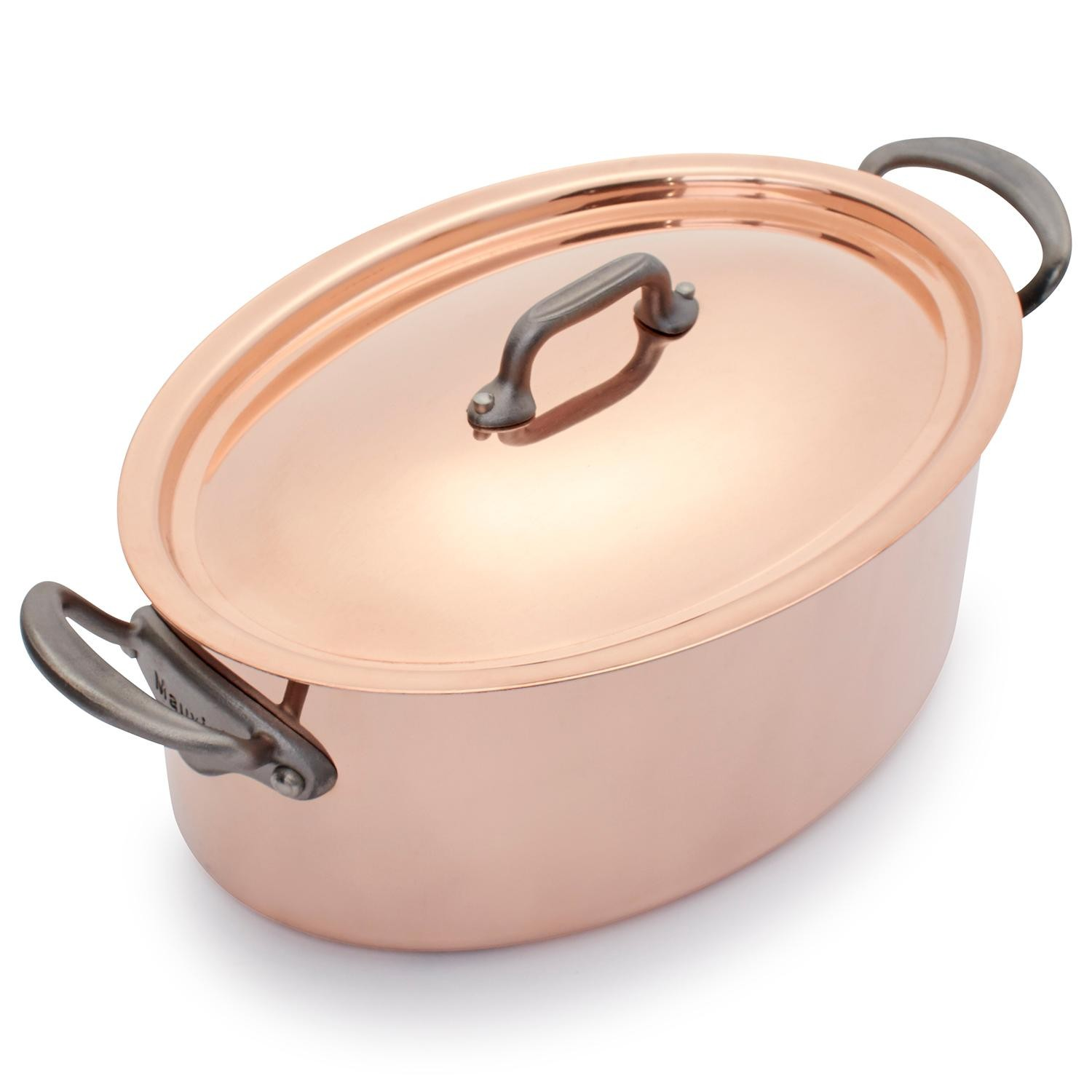 <p>The exclusive to Sur La Table Jacques Pépin Limited Edition Copper Oval Dutch Oven holds 4 quarts and is hand made in limited quantities. This heritage-quality Dutch oven is perfect for everything from soups and stews to pork loin and pot roast. (Image: Sur La Table){&amp;nbsp;}</p>