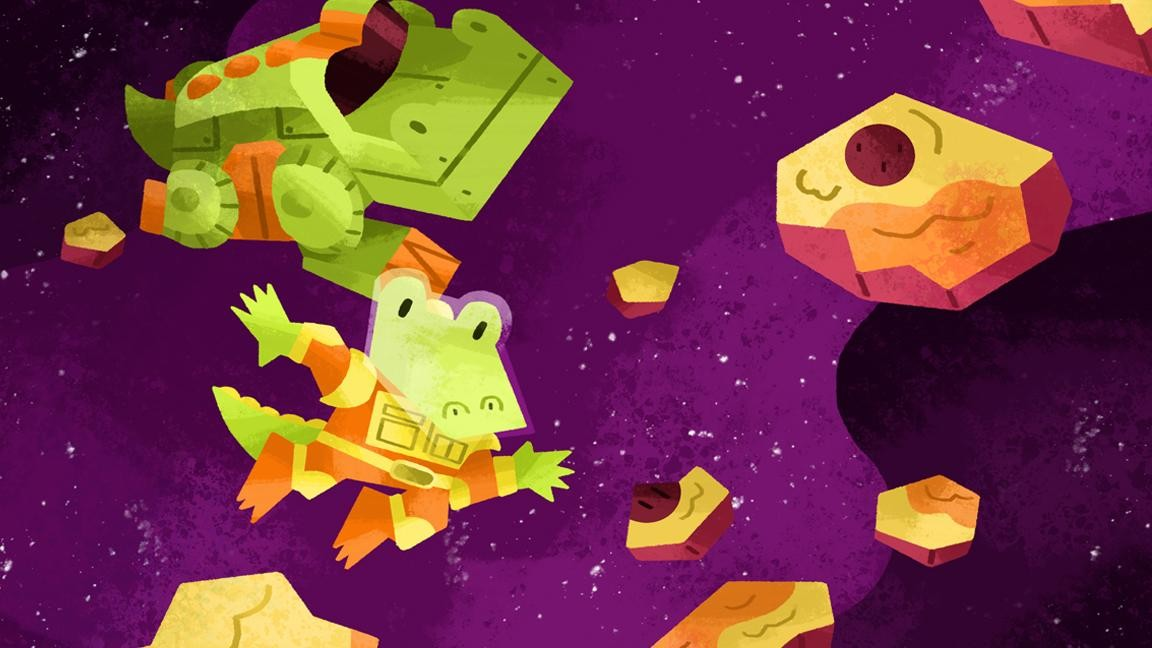 "Salvatore Alligator stars in ""A Cheesy Space Adventure"". (Image: Tyler Parker)"