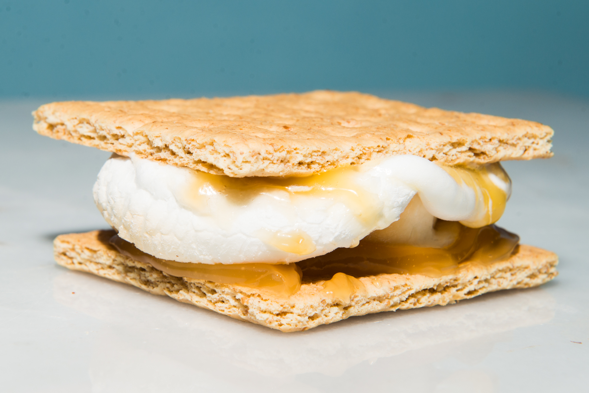 For a tasty take on lemon meringue, you have to try smearing some lemon curd on your crackers before plopping on that fluffy, pillowy marshmallow. Trader Joe's makes an excellent lemon curd that will set you back just $3. Sweet and just a teeny bit tart, you'll be hooked after one bite. (Photo: Chona Kasinger / Seattle Refined)