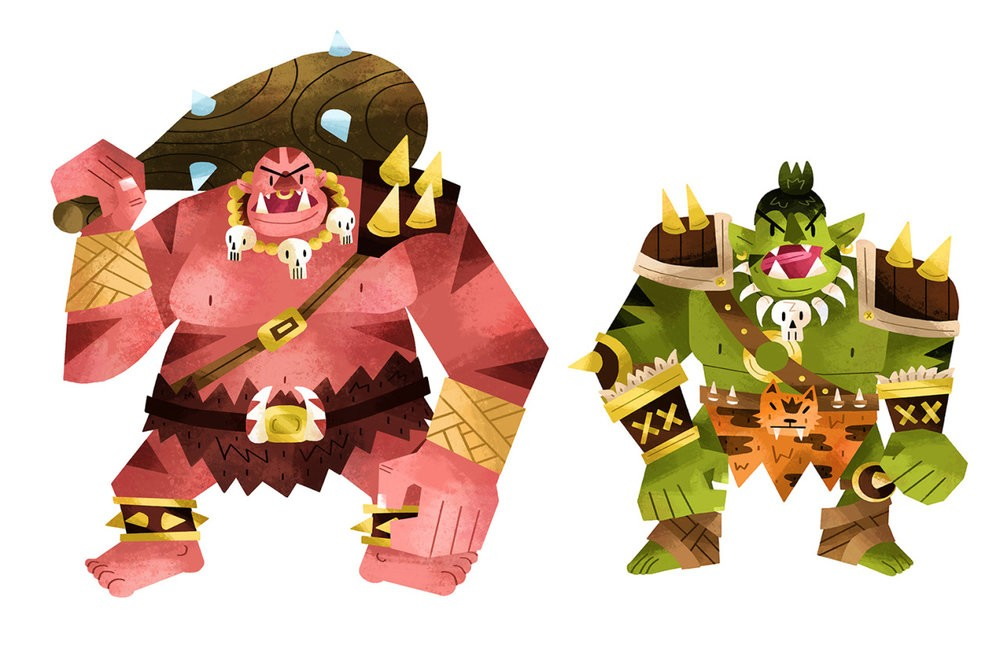 Ogre and Orc are part of the Dungeon Creeps series. (Image: Tyler Parker)